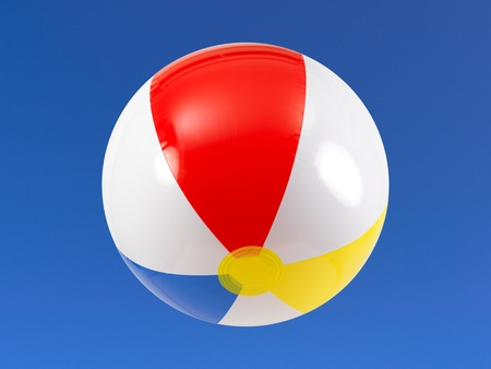 A beach ball in the sky Stock Photo - 9344641