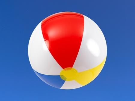 A beach ball in the sky Stock Photo - 9344641