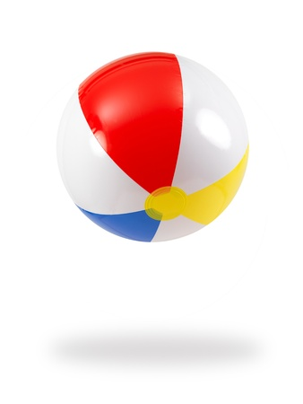 A beach ball isolated against a white background Stock Photo - 9344614