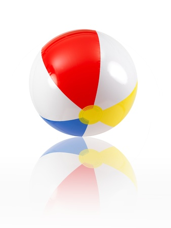 A beach ball isolated against a white background Stock Photo - 9344618