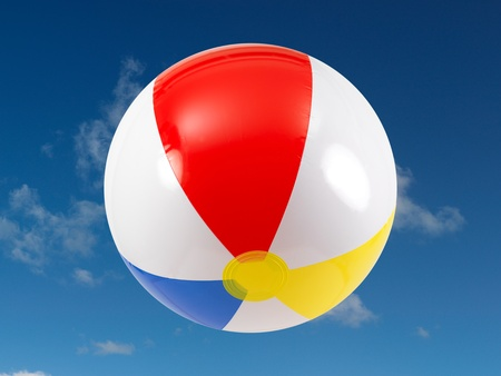 A beach ball in the sky photo