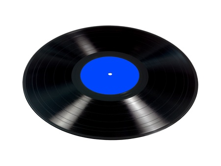 Vinyl records isolated against a white background photo