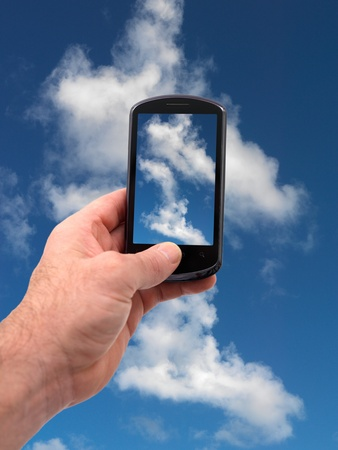A mobile phone taking a picture Stock Photo - 9421024