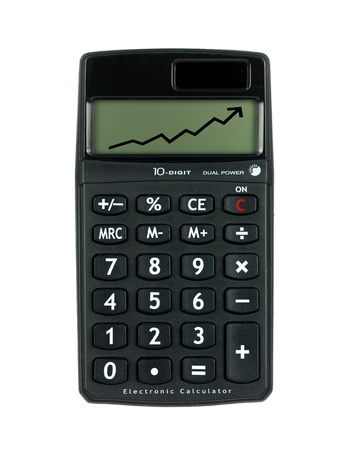 A calculator isolated against a white background Stock Photo - 9421019
