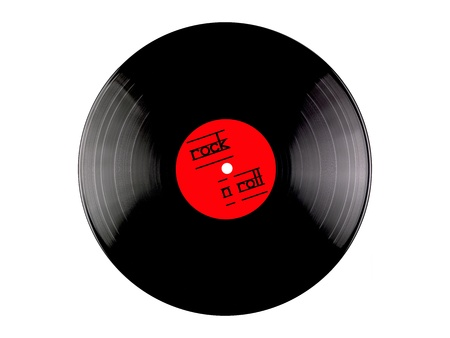 record: Vinyl records isolated against a white background