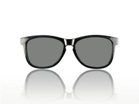 rimmed: Gafas de sol aislados contra un fondo blanco Foto de archivo