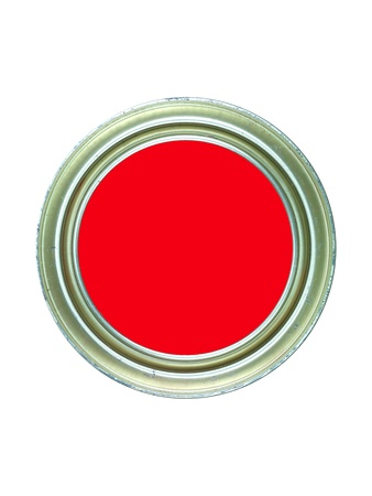 Tins of paint isolated against a white background Stock Photo - 9544850