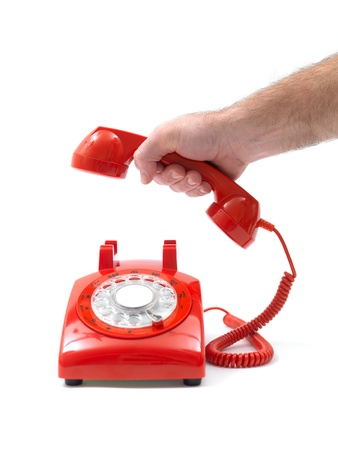rotary phone: Telephones isolated against a white background