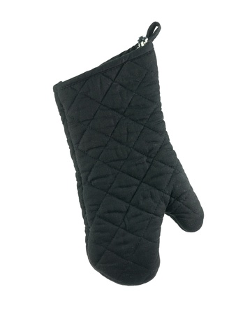 Oven mitts isolated against a white background photo