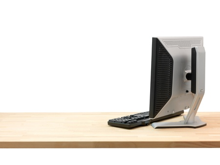office desk: A workplace scene isolated against a white background