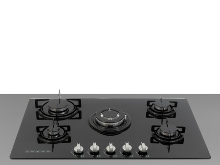A  kitchen cooktop on a kitchen bench Stock Photo - 9737711