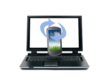 A laptop computer isolated against a white background Stock Photo - 9884810
