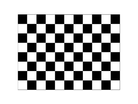 A checkered illustration isolated against a white background illustration