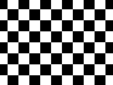 sidecar motocross racing: A checkered illustration isolated against a white background