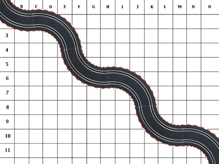 slot car track: An image of toy slot car racing track and cars