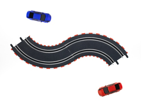 slot car track: An image of toy slot car racing