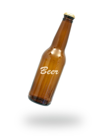 Bottles of beer isolated against a white background Stock Photo - 10012068