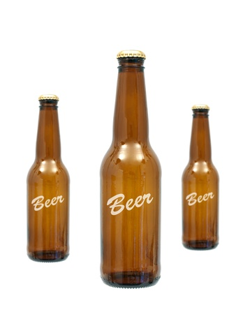 Bottles of beer isolated against a white background Stock Photo - 10012078
