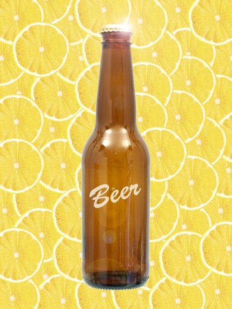 Bottles of beer isolated against a white background Stock Photo - 10011660