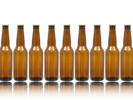 Bottles of beer isolated against a white background Stock Photo - 10011736