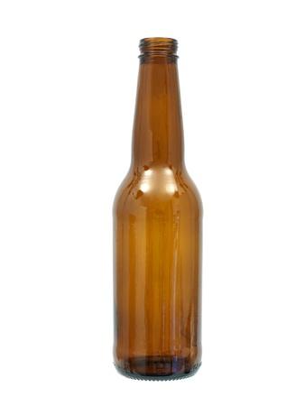 白い背景に対して分離されたビールのボトル