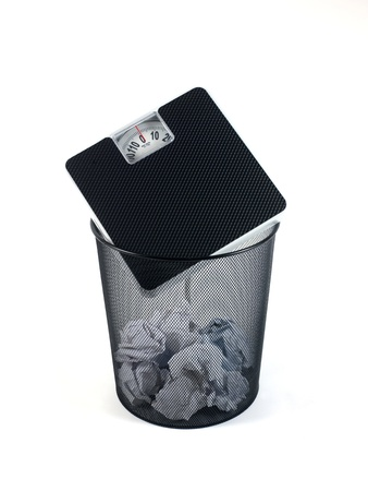 fedup: A trash bin isolated against a white background
