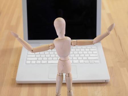 ergonomic: A desktop computer on a work dfesk Stock Photo