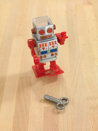 A robot walking on a wooden floor Stock Photo - 10138834