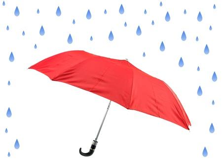 Ein Regenschirm gegen einen weißen Hintergrund isoliert Standard-Bild