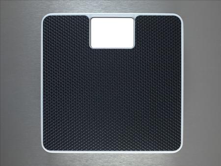 floor machine: Ba�o escala aislado contra un fondo met�lico