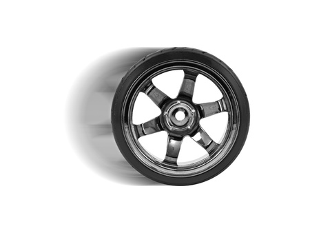 Rubber tyres with sports rims on a white background Stock Photo - 10486063