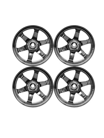 Rubber tyres with sports rims on a white background Stock Photo - 10485979