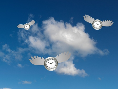 A conceptual image of  a time flying photo