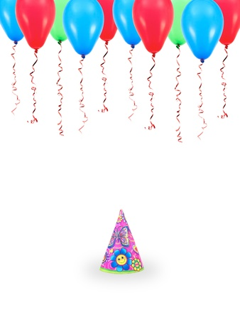 Party hats isolated against a white background Stock Photo - 10614285