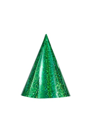 Party hats isolated against a white background