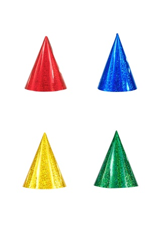birthday hat: Party hats isolated against a white background