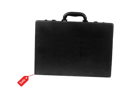 A black old fashioned business brief case photo