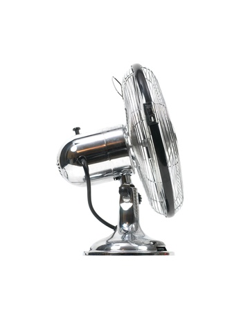 An electric fan isolated on white photo