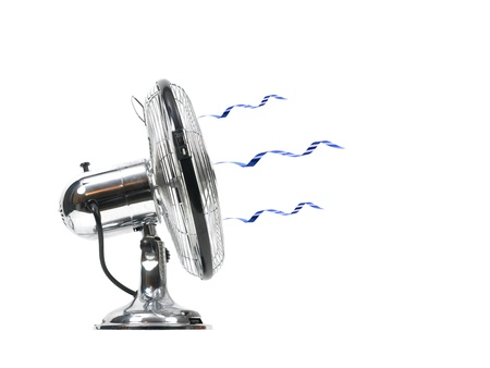 An electric fan isolated on white Stock Photo