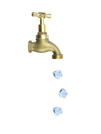 A tap isolated against a white background photo