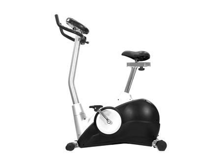 Una bicicleta de ejercicio aislado contra un fondo blanco
