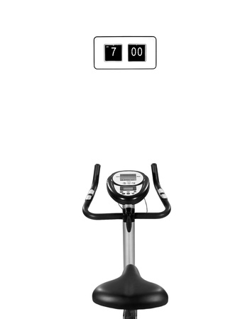 hometrainer: An exercise bike isolated against a white background