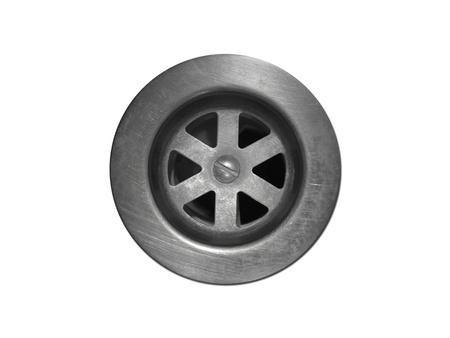 배수 구멍은 흰색 배경에 격리 스톡 콘텐츠 - 11091094