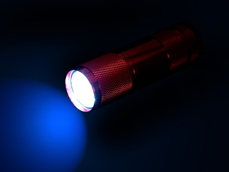 A flash light isolated against a black background Stock Photo - 11091046