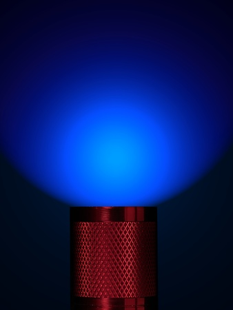 A flash light isolated against a black background Stock Photo - 11091080