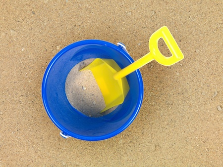 A conceptual beach image with assorted beach items Stock Photo - 11203491