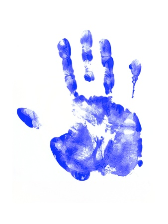 Feet and hand prints on a white background Stock Photo - 11203291