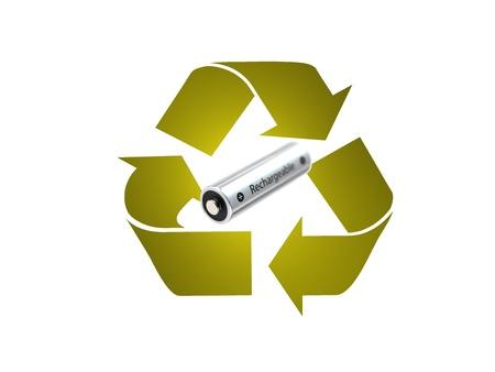 A recycle symbol isolated against a white background Stock Photo - 11299167