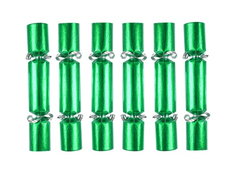 christmas cracker: Christmas decorations isolated against a white background
