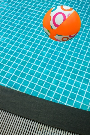 Swimming Pool and a beach ball photo